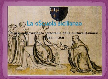 LA SCUOLA SICILIANA   –  JACOPO DA LENTINI